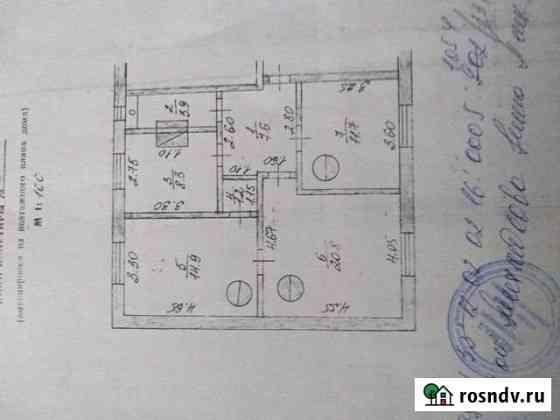 3-комнатная квартира, 68 м², 2/2 эт. Угловка