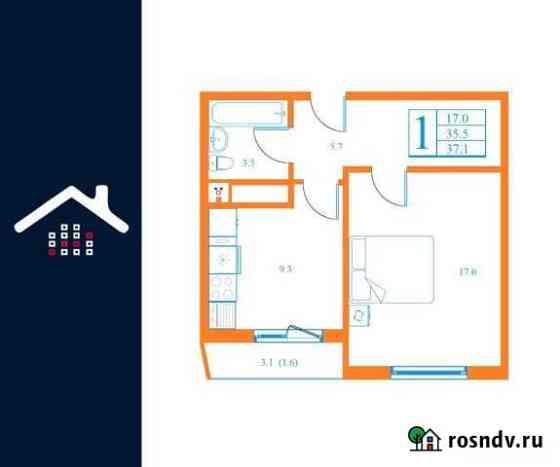 1-комнатная квартира, 37.1 м², 3/17 эт. Дмитров