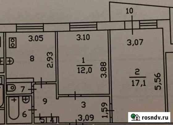 2-комнатная квартира, 49.5 м², 1/9 эт. Тюмень