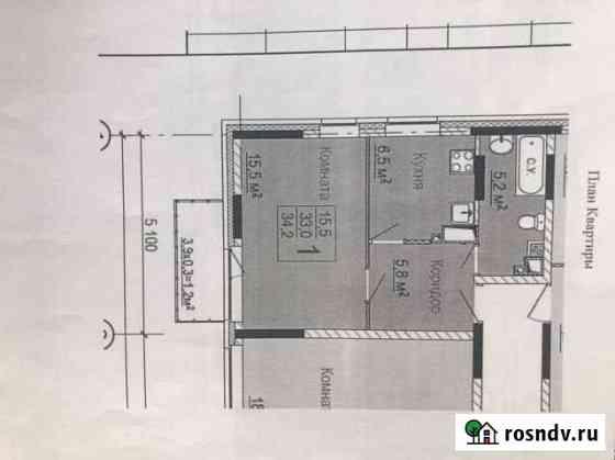 1-комнатная квартира, 33 м², 12/18 эт. Березники
