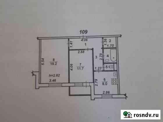 2-комнатная квартира, 53 м², 8/10 эт. Воронеж