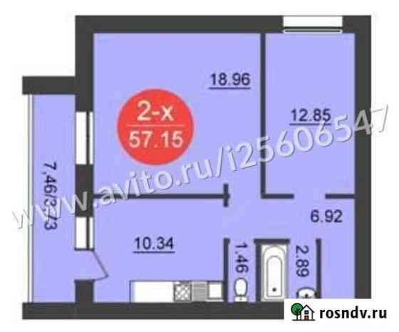 2-комнатная квартира, 57.2 м², 9/14 эт. Владимир