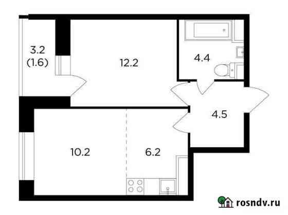 2-комнатная квартира, 39.1 м², 9/16 эт. Пушкино