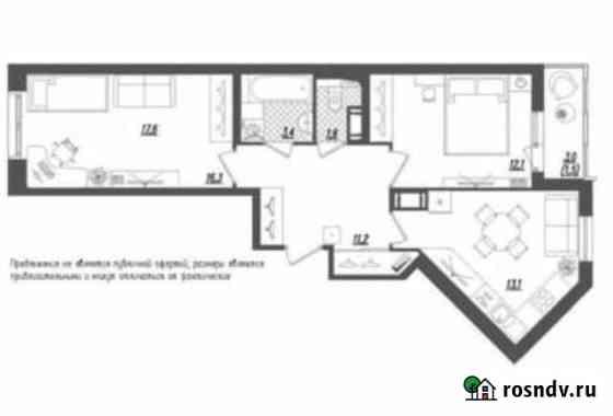 2-комнатная квартира, 59 м², 4/10 эт. Санкт-Петербург