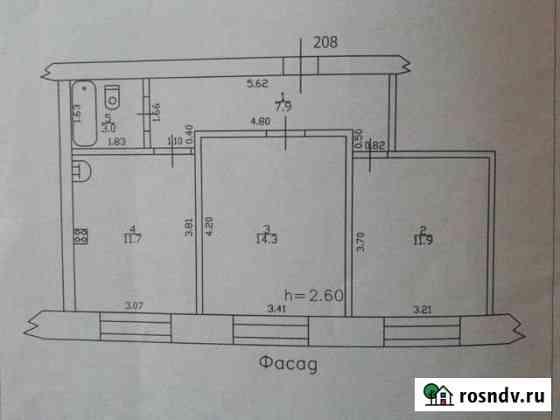 2-комнатная квартира, 48 м², 1/6 эт. Бийск