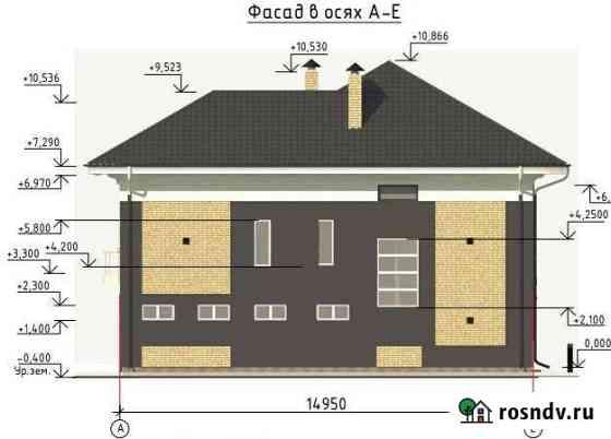 Дом 240 м² на участке 12 сот. Южный