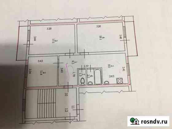 3-комнатная квартира, 69 м², 2/2 эт. Нарьян-Мар