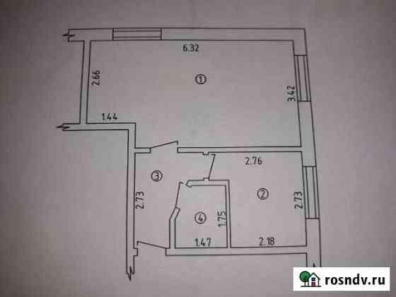 1-комнатная квартира, 33 м², 1/2 эт. Шентала