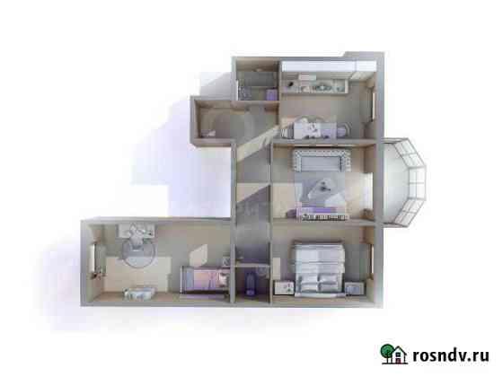 3-комнатная квартира, 68 м², 4/8 эт. Романовка