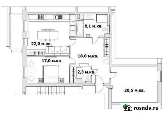 2-комнатная квартира, 88 м², 2/5 эт. Санкт-Петербург