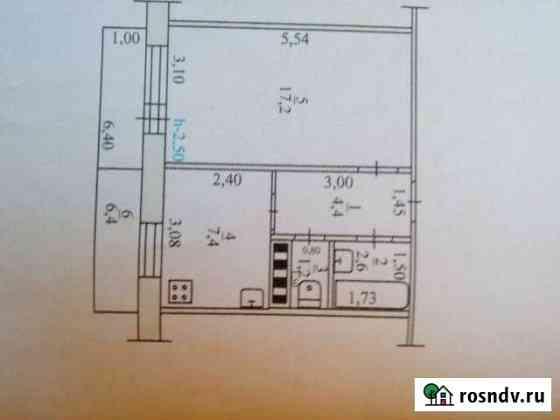 1-комнатная квартира, 33 м², 5/5 эт. Зверево