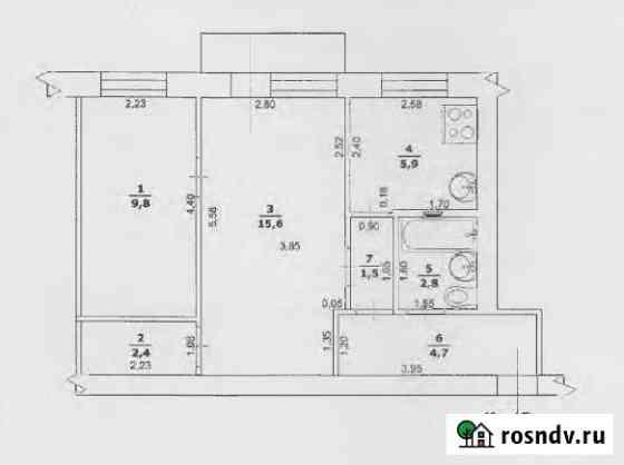 2-комнатная квартира, 43 м², 4/4 эт. Вейделевка