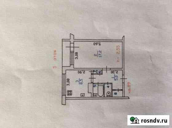 1-комнатная квартира, 37 м², 5/5 эт. Светогорск