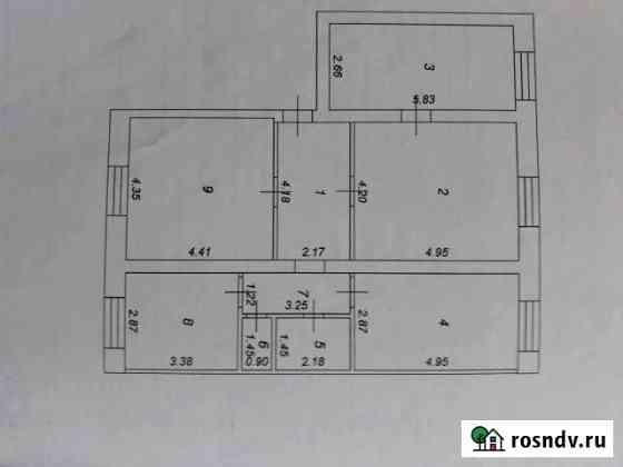 4-комнатная квартира, 97 м², 3/3 эт. Чучково