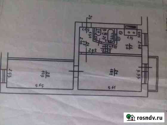 2-комнатная квартира, 45 м², 3/4 эт. Зверево