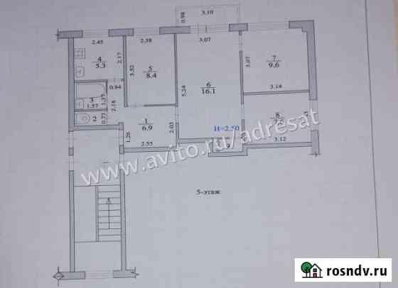 4-комнатная квартира, 54 м², 5/5 эт. Светлый Яр