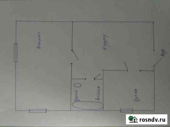 1-комнатная квартира, 37 м², 2/2 эт. Стрелица