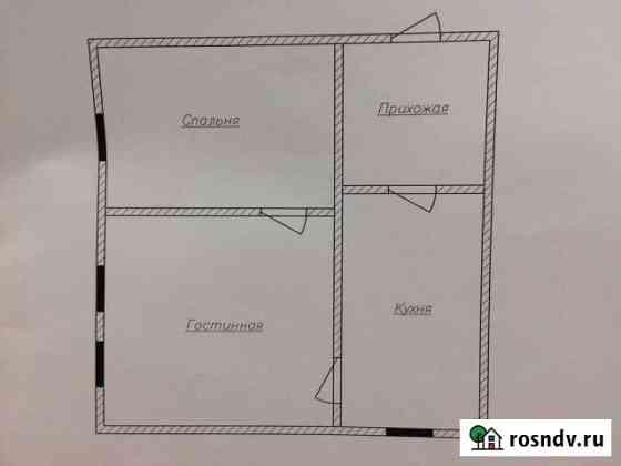 2-комнатная квартира, 35 м², 1/1 эт. Спасск