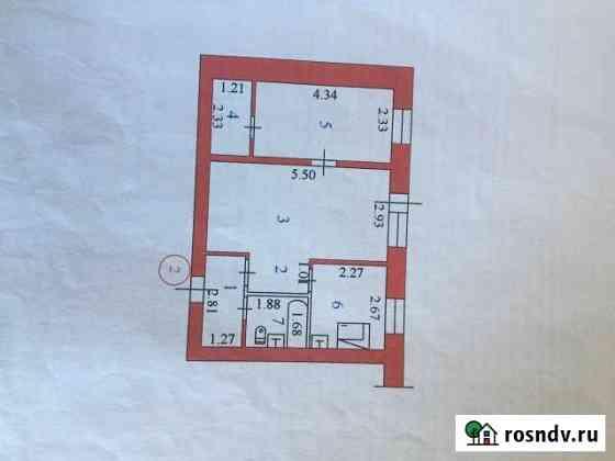 2-комнатная квартира, 43 м², 1/4 эт. Коноша