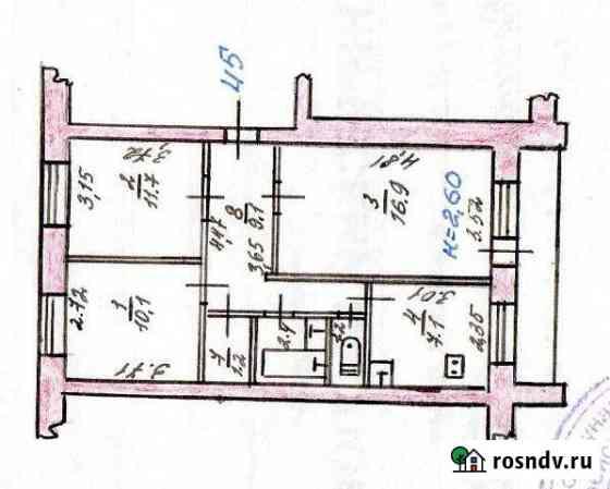 3-комнатная квартира, 59 м², 5/5 эт. Амурзет