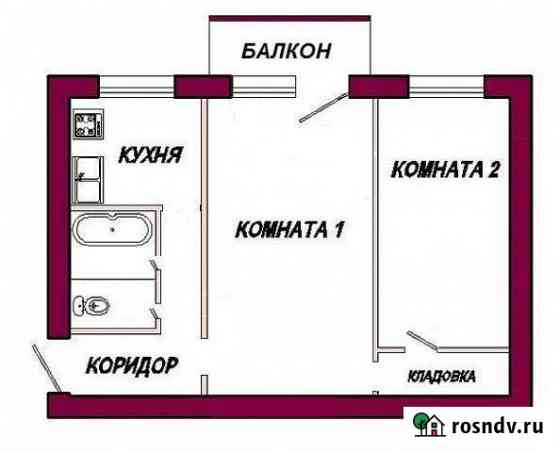 2-комнатная квартира, 45 м², 3/5 эт. Курорт-Дарасун