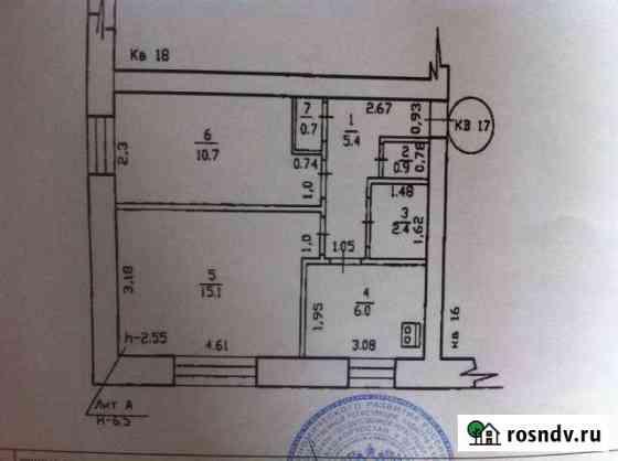 2-комнатная квартира, 41 м², 1/2 эт. Бакалы