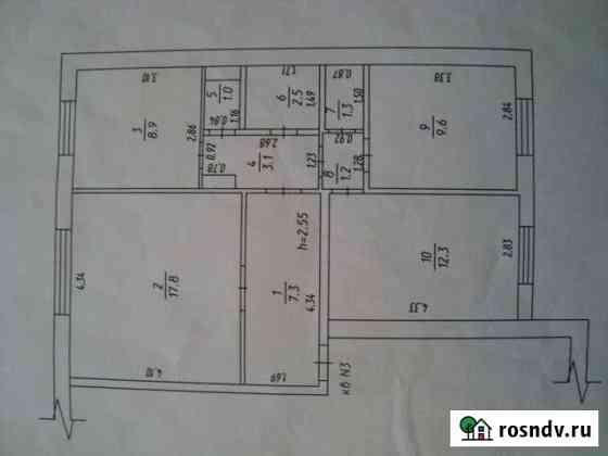 3-комнатная квартира, 65 м², 1/5 эт. Плотниково
