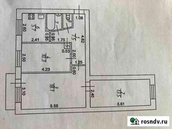 3-комнатная квартира, 58 м², 3/5 эт. Лесной