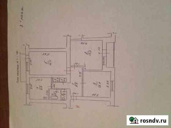 3-комнатная квартира, 77 м², 3/3 эт. Шаталово