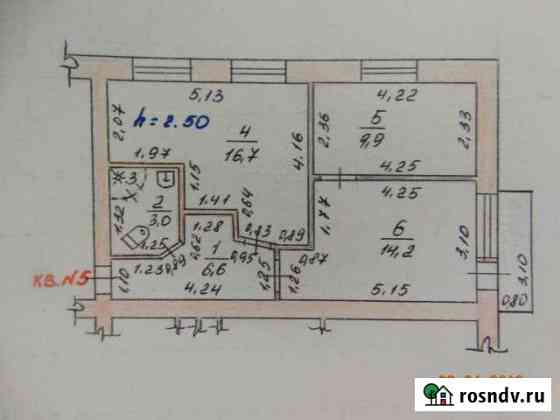 2-комнатная квартира, 51 м², 2/4 эт. Поворино