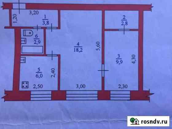 2-комнатная квартира, 43 м², 1/4 эт. Савинский