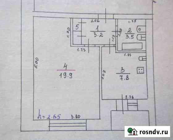 1-комнатная квартира, 35 м², 4/5 эт. Порхов