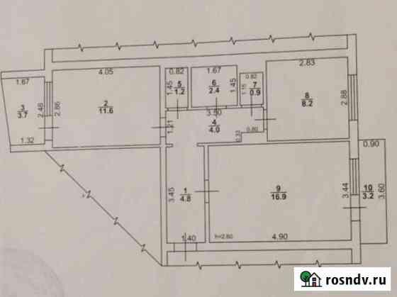 2-комнатная квартира, 50 м², 1/5 эт. Петровск