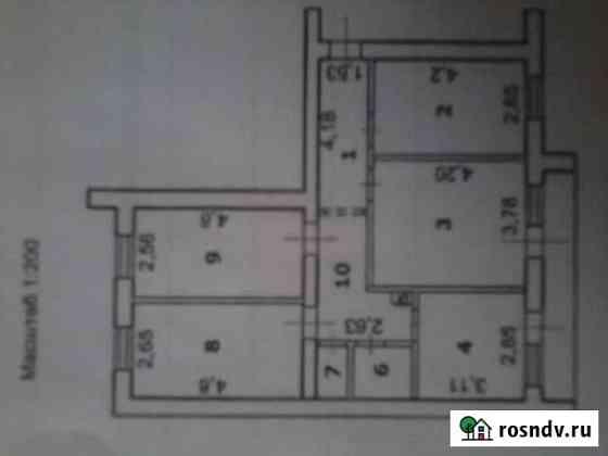4-комнатная квартира, 78 м², 10/10 эт. Губкин