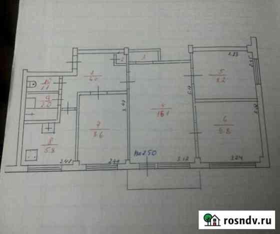 4-комнатная квартира, 59 м², 5/5 эт. Олонец