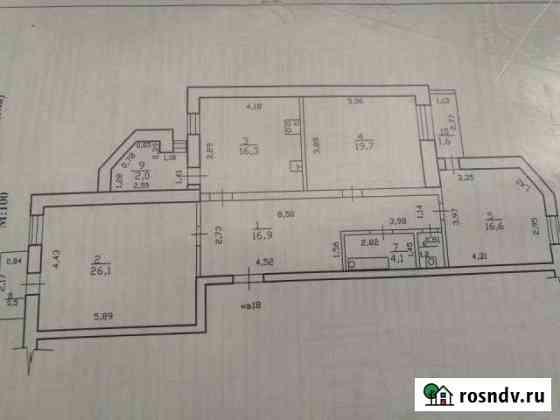 3-комнатная квартира, 100 м², 4/6 эт. Забайкальск