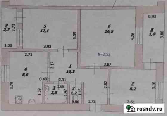 3-комнатная квартира, 60 м², 5/5 эт. Зерноград
