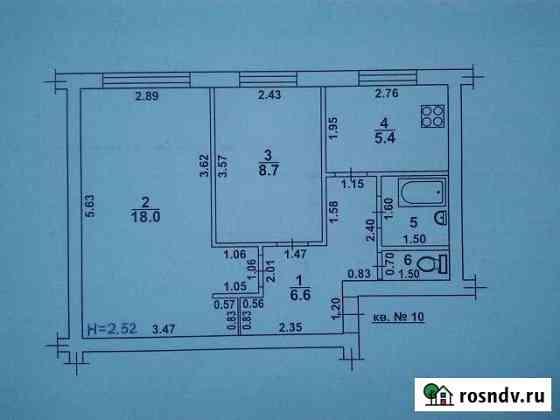 2-комнатная квартира, 42 м², 1/2 эт. Иловля