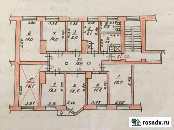 Комната 17 м² в 8-ком. кв., 2/5 эт. Невель