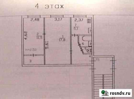 2-комнатная квартира, 44 м², 4/5 эт. Большая Ижора