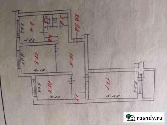 3-комнатная квартира, 72 м², 3/5 эт. Костомукша
