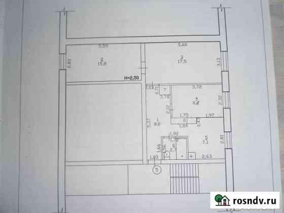 3-комнатная квартира, 61 м², 2/3 эт. Шипуново
