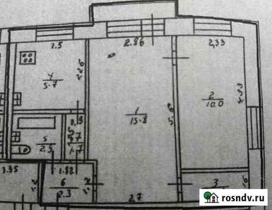 2-комнатная квартира, 44 м², 5/5 эт. Кораблино