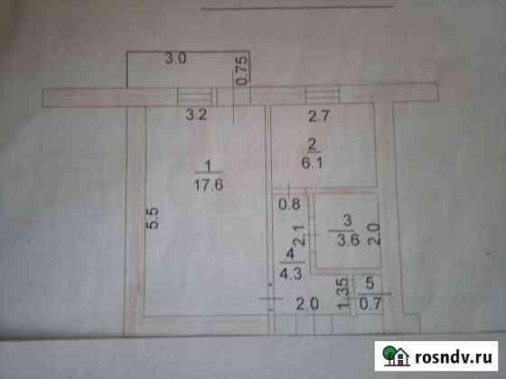 1-комнатная квартира, 32 м², 1/5 эт. Ковылкино