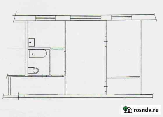 2-комнатная квартира, 43 м², 1/4 эт. Сокол