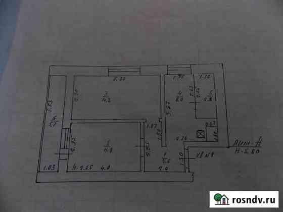 1-комнатная квартира, 46 м², 2/2 эт. Усмань