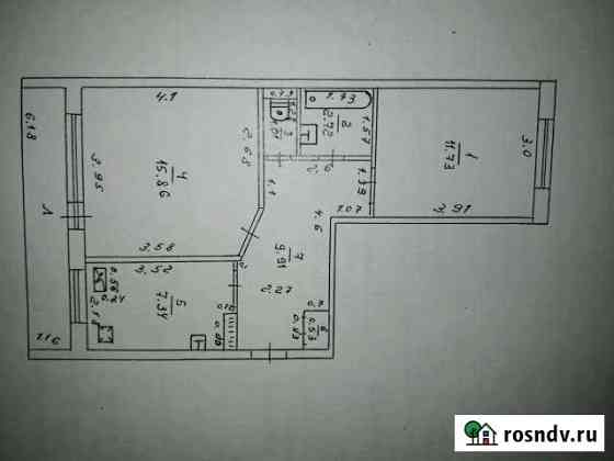 2-комнатная квартира, 49 м², 1/2 эт. Новоульяновск