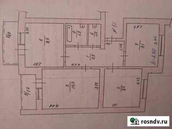 3-комнатная квартира, 55 м², 2/3 эт. Донецк