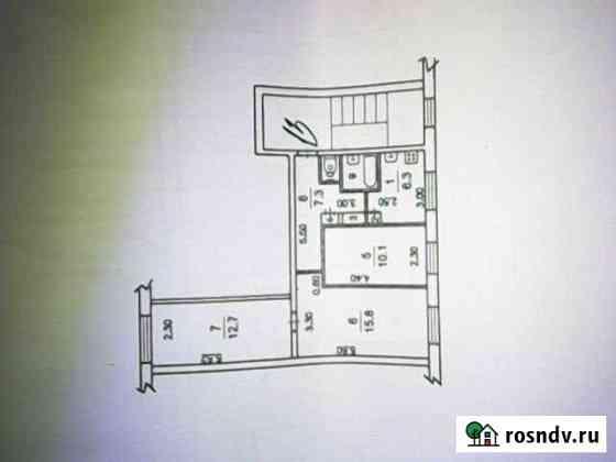 3-комнатная квартира, 56 м², 2/2 эт. Любучаны