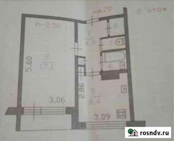 1-комнатная квартира, 37 м², 2/5 эт. Каменногорск